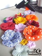 forminha para doce em tecido | em fase de teste (Cizana) Tags: flor rosa casamento buffet festa tecido colorido chito tricoline forminha docinhhos