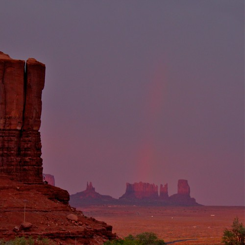Lights over Monument Valley