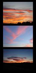 Nightfall (Celtic~Dancer) Tags: pink blue sunset sky usa color night gold virginia triptych dusk sony roanoke sonycybershot nightfall dcsw80