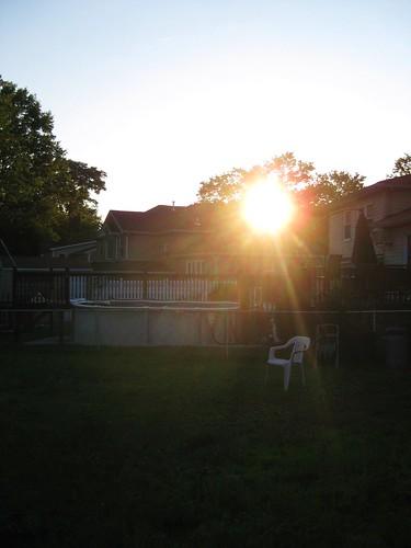 sunset in suburbia.
