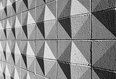 Wall (gordeau) Tags: shadow bw abstract wall triangles pattern gordon ashby unanimous thechallengefactory thepinnaclehof gordeau tphofweek184