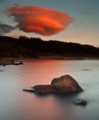Funky Clouds (.Brian Kerr Photography.) Tags: longexposure sunset sky colour canon landscape scotland rocks scottish dumfriesandgalloway funkyclouds clatteringshaws eos5dmkii