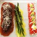 Lunch horseradish, chicken jus soaked steaks, fresh asparagus and a tomato salad | Bodega RidgeBodega Ridge, Galiano Island