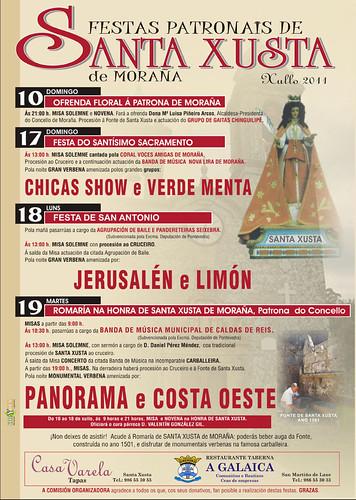 Moraña 2011 - Romaría de Santa Xusta - cartel
