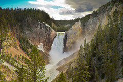 Lower Falls, Yellowstone National Park, Wyoming, USA (Christopher Brian's Photography) Tags: usa clouds waterfalls yellowstonenationalpark wyoming canonef2470mmf28lusm lowerfalls landscapephotography canoneos7d yellowstonerivercanyon