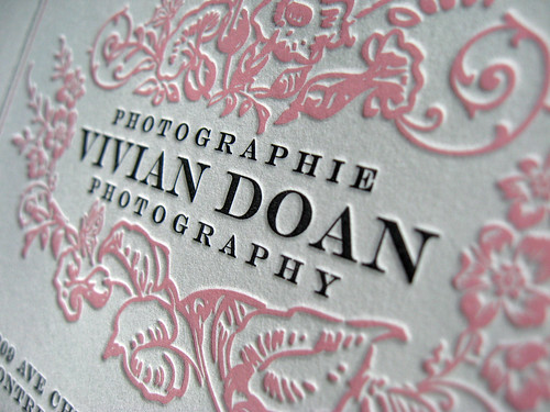 Vivian Doan Letterpress CD Cover