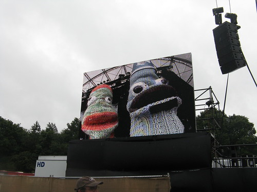 The Avatars of They on the Jumbotron!