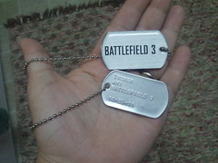 Batllefield 3 E3 2011 Customized Dog Tags