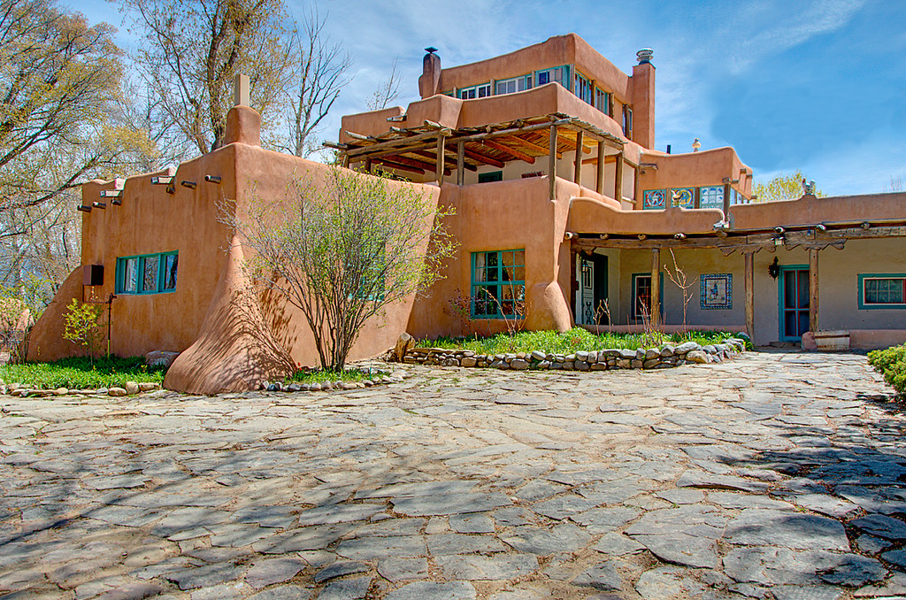 Mabel Dodge Luhan's home in Taos New Mexico