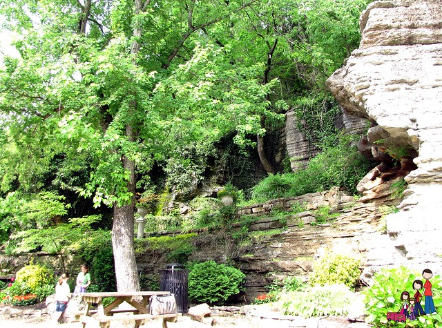 Park built around a natural spring in Eureka Springs