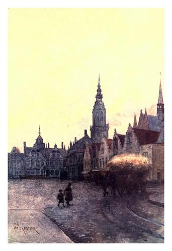 013-Furnes plaza y campanario-Belgium 1908- Amédée Forestier