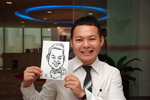 Caricature live sketching for Ricoh Roadshow - 4