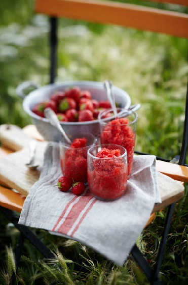 3 Jennifer Joyce-Strawberry Granita, Sorbet Outside Chair Ingred Colander