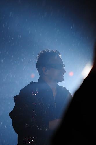 Bono in the rain