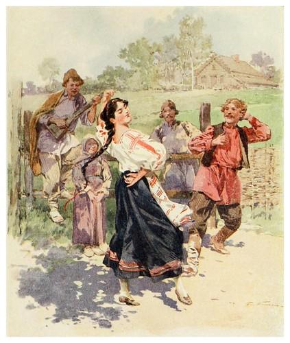 022-Una danza en la pequeña rusia- Provincial Russia-1913- F. de Haenen