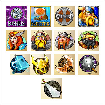 free Viking and Striking slot game symbols
