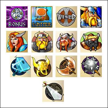 free Viking and Striking slot game symbols