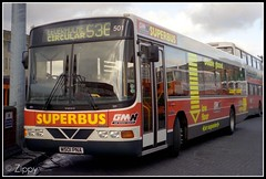 First of the Superbuses! (Zippy's Revenge) Tags: bus manchester volvo transport bolton blob wright endurance busstation 501 superbus greatermanchester moorlane wrightbus b10b gmbuses gmn gmbusesnorth m501pna