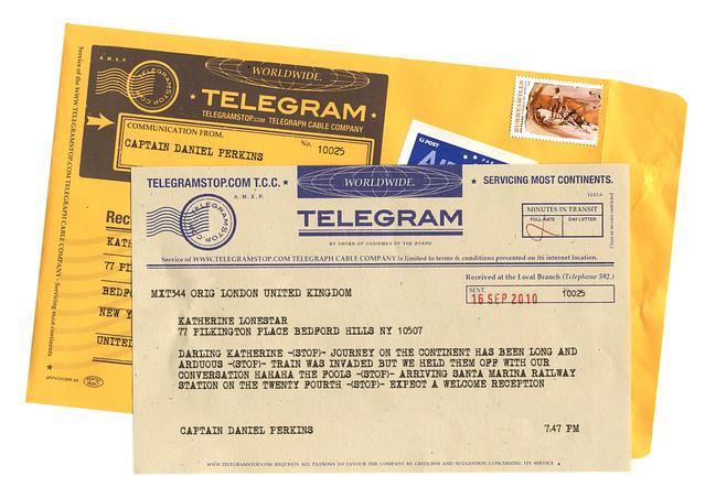 TelegramStop-DeliveredTelegram&Envelope