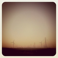 Turbines (inspiredbyeverything) Tags: indiana windturbines greenelectricity sunsetiphone