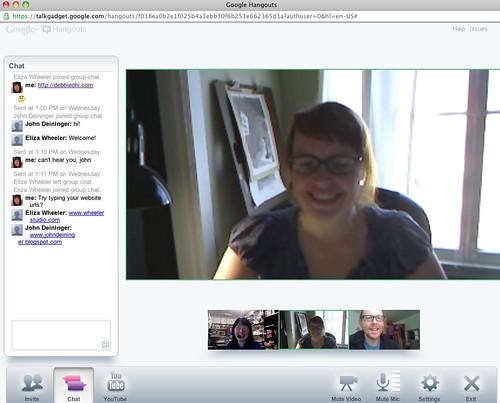 Google Hangout w/ Eliza Wheeler & John Deininger