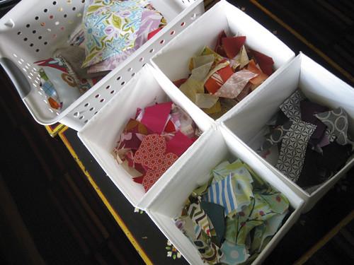sorting scraps