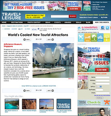 "My shot on ArtScience Museum, Singapore was featured on TRAVEL+LEISURE ""World's Coolest New Tourist Attractions"" (williamcho) Tags: museum modern singapore lotus casino exhibitions trendy hotels marinabay marinabaysands iconiclandmark theshoppes williamcho artsciencemuseum singaporerivermouth sonyericssonu5icellphone"