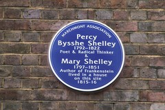 87 Marchmont Street, London: Percy and Mary Shelley (Peter Denton) Tags: england london eu literature frankenstein bloomsbury poet romantic writer blueplaque percybyssheshelley wc1 londonist maryshelley marchmontstreet dramatist canoneos60d ©peterdenton marchmontassociation
