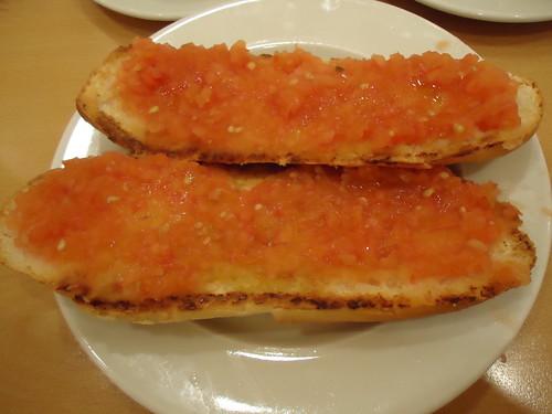 Zaragoza | Cafetería de El Corte Inglés | Tostada de tomate y aceite