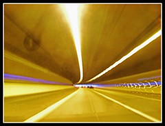 Tunnel Vision (Jon 89) Tags: road street uk travel blue light england brown white blur travelling cars lines car st yellow speed shopping dark lights photo moving long exposure driving purple traffic motorway bright britain painted centre great fast tunnel vision shops hatfield a1 outlet markings albans galleria hertfordshire herts