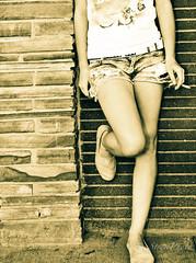 Break Time (mStreetPhoto) Tags: blackandwhite bw girl female nikon break legs candid teens vivid coffeeshop oldschool smoking explore teen denton younggirl cigarrete dentontexas northdallas beatifulcapture nikond7000 mstreetphoto