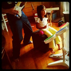 Friday: playing Rock Band
