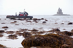 Aground at Race Point (L'eau Bleue) Tags: lighthouse shipwreck captain ontherocks tugboat tug aground wreck mariner fishersisland racepoint racerock