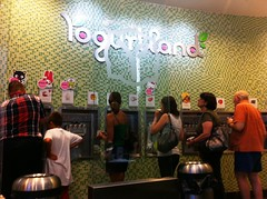 Yogurtland's Wall of Yogurt
