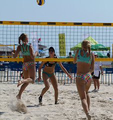European Under 20 Beach Volleyball (Ian Gethings) Tags: blue red sea sun white playing black hot men net beach sports sign sport ball israel championship team sand women europe european swiss secret tel aviv young tan polish womens spanish bikini sweat mens pro spike volleyball athlete russian volley u20 austrian 2011
