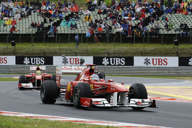 Fernando Alonso Felipe Massa F1 2011 Hungarian GP