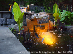 Minnesota Landscape Design inspired by Bali ~ Natural Stone Water Feature / Koi Pond / Water Garden Night Lighting (Switzer's Nursery & Landscaping) Tags: bali water minnesota design waterfall pond natural landscaping glenn patio cedar handcrafted waterfeature northfield interlocking pergola paver pavers balinese switzers arbour switzer 12volt landscapedesign designbuild hardscape uplights lowvoltage outdoorliving downlights hardscaping landscapelighting customdesigned pathlights glennswitzer naturalpond icpi mnla outdoordinning patiodesign landscapepond pergoladesign switzersnursery landscapedesigns theartoflandscapedesign switzersnurserylandscaping arbourdesign artoflandscapedesign minnesotanurserylandscapeassociation