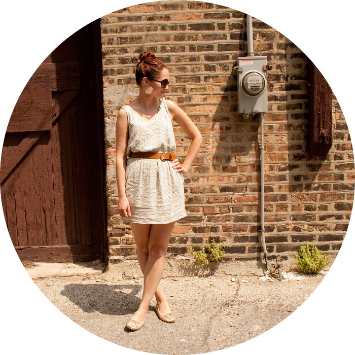 dashdotdotty dash dot dotty brick wall outfit post white dress and big belt