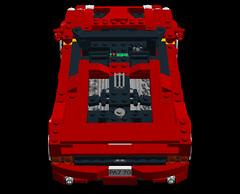 Ferrari F50 Barchetta (lego911) Tags: auto italy car model italian lego render ferrari carbon fiber supercar challenge cad racer lugnuts v12 f50 fibre moc ldd miniland lego911