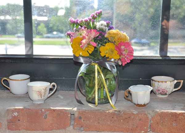 flowers and teacups