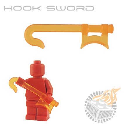 Hook Sword (of Fire) - Trans Orange