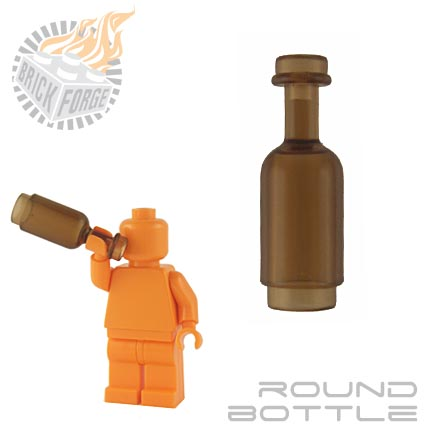 Round Bottle - Trans Brown