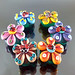 Set : Ladybug Flower Blossom Colorful