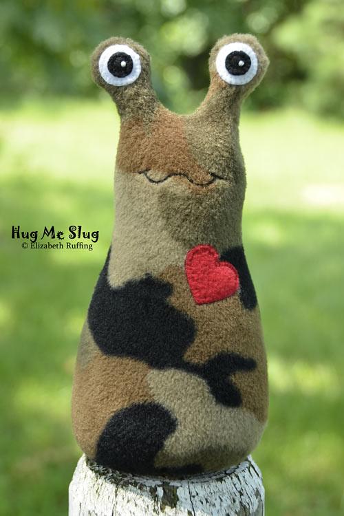 Camouflage Fleece Hug Me Slug by Elizabeth Ruffing