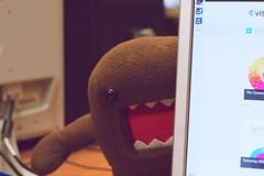 work asian toy japanese office desk designer sydney plush domo figurine domokun austalia