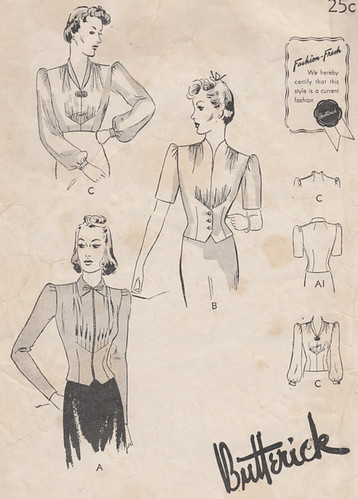 1939 blouse pattern