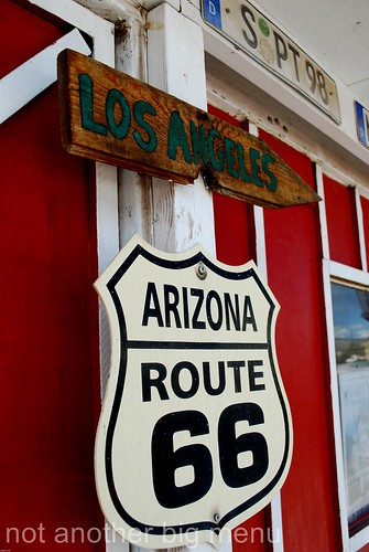 Las Vegas, Nevada - Route 66 signs - Los Angeles Arizona Route 66 sign