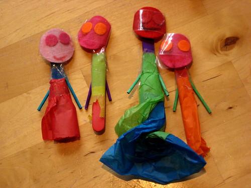 junk model puppets