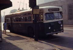19680809 08 CTA 9400 Irving Park Road @ Southport Ave. (davidwilson1949) Tags: chicago illinois cta transit trolleybus