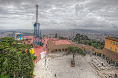 View of Barcelona from the Tibidabo (Spain), HDR